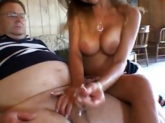 youthful angel teasing old lad