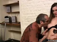 miniature dark brown coed goes naughty with her