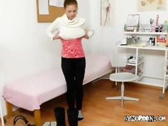 charming beauty keira acquires examined bare