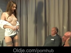 11 old geezers gang group sex wide a wicked