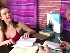 russian student hotty screwed by her old teacher