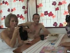 she jumps on her bfs dad cock