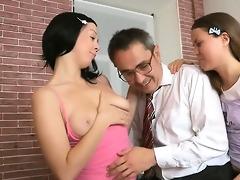 teacher forcing himself on captivating honey