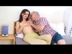 diminutive tittted cutie gets drilled by aged