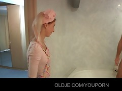 lustful youthful maid bonks old hotel customer
