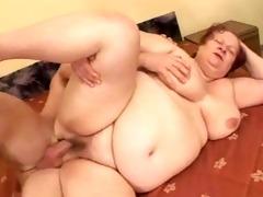 big beautiful woman grannie copulates with
