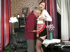 old rod fucks youthful russian maid