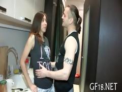 boy bangs her