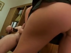 boss tries big old cock...f39