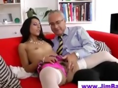 playgirl in nylons sucks old fellow