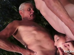 grandpas and a sexy 610yo babe