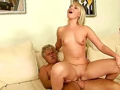 old man copulates hawt juvenile blond