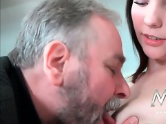 lustful old man likes to fuck a cute juvenile