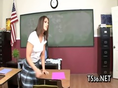 schoolgirl receives pounder