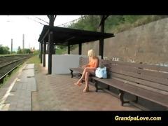 blond breasty receives old shlong sex