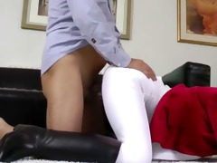 spruce amateur doggy style with old man