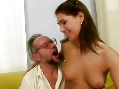grandpapa enjoying wicked sex with sexy legal age