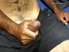 this attractive hirsute large cock dad is fuckin