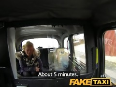 faketaxi youthful blond takes on old weenie