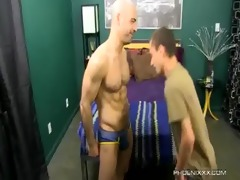 ravishing dad and concupiscent son fuck with adam