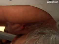 breasty daughter close up irrumation
