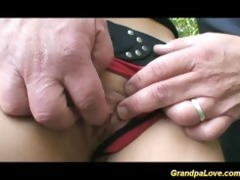 grandad fucking a valuable brunette hair hottie