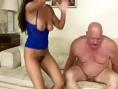 wicked brunette hair fucking fat grandad