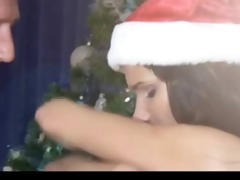 old stud fuck marvelous brunette hair at christmas