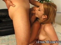 year old cock pounded