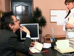 old teacher is staring at samanthas vagina hidden