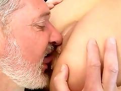 old chap fucks hot juvenile cutie