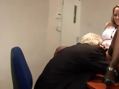 old geezer goes down on juvenile whore on his