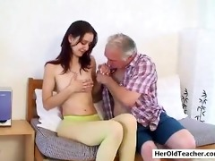 old chap seducing young hotty