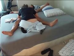 hidden camera captures dilettante pair fuck
