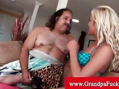 grandpa jeremy receives his cock sucked