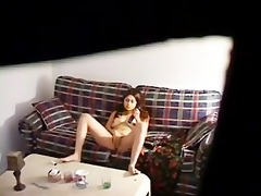 my sister home alone masturbating in living room
