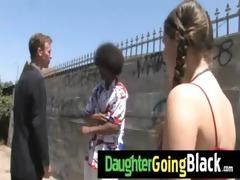 hawt daughter shlong engulf and interracial fuck