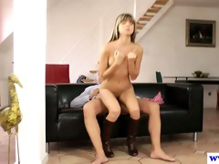 youthful european whore riding dick of an old dude