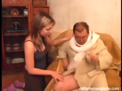 natalli fucking an unattractive old man - coffee