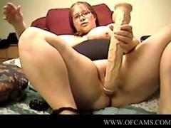 big beautiful woman with massive vibrator on
