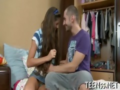 small oriental legal age teenager acquires nailed
