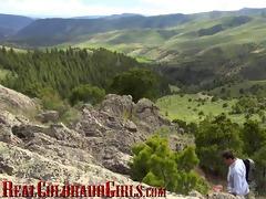 real colorado beauty roxy rox bonks on a mountain