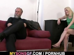 lustful daddy uses sons girlfriend